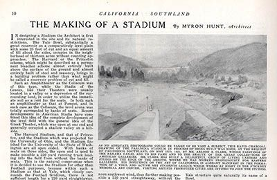 The Making of a Stadium by Myron Hunt