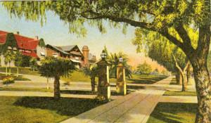Postcard of Fleming residence