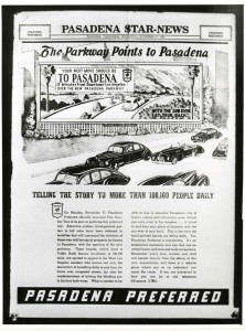 Eph-Pasadena 41-8-1 Arroyo Seco Parkway Star News Pasadena Parkway ad 1940