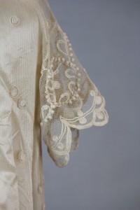 Sleeve detail from 1910 wedding dress