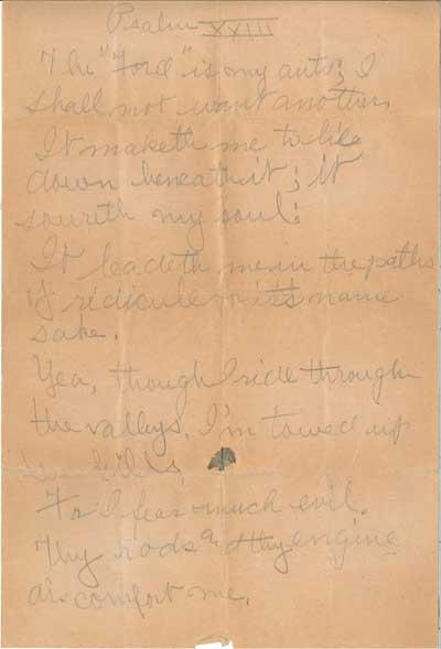 Ford Psalm XXIII poem