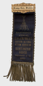 Badge from a Southern California Veteran Association event