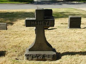 Haney tombstone