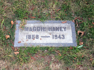 Maggie Haney tombstone