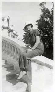 FCP_102_4 Leonora Scott Curtin wearing pants 1936