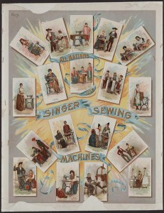 Singer sewing machine lithograph