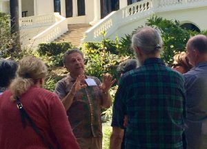 Docent giving a Fenyes Mansion tour