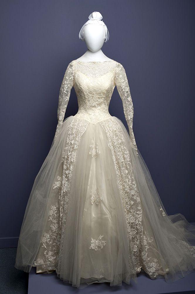 Wedding dress, circa 1957