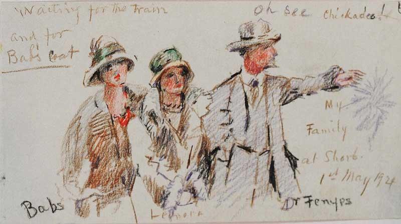 Sketch by Eva Scott Fenyes