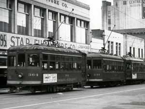 Local cars on Raymond Avenue, 1939