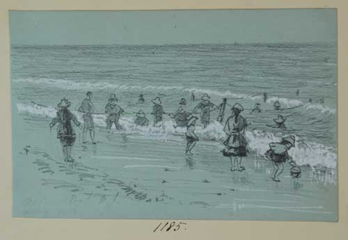 On the Beach by Eva Scott Fenyes