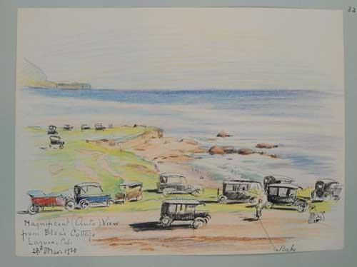 Beach sketch by Eva Scott Fenyes