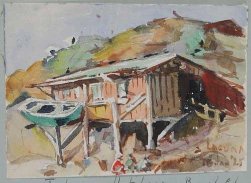 Fishermans Hut by Eva Scott Fenyes
