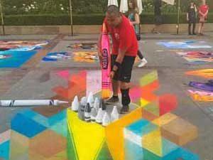 A.J. Calabu and #D chalk crayons