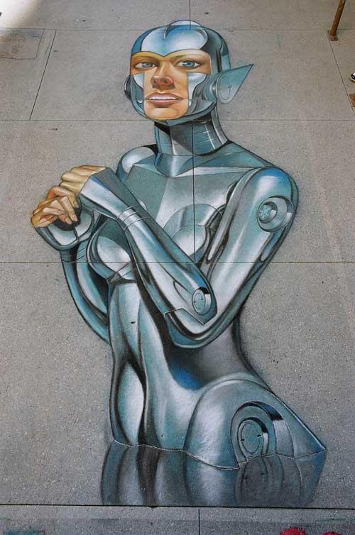 Arlou Somo chalk art