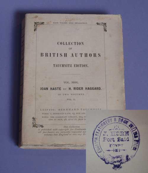 Tauchnitz Edition of Joan Haste, Volume 1