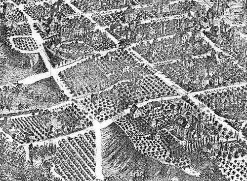 1895 lithograph of Pasadena