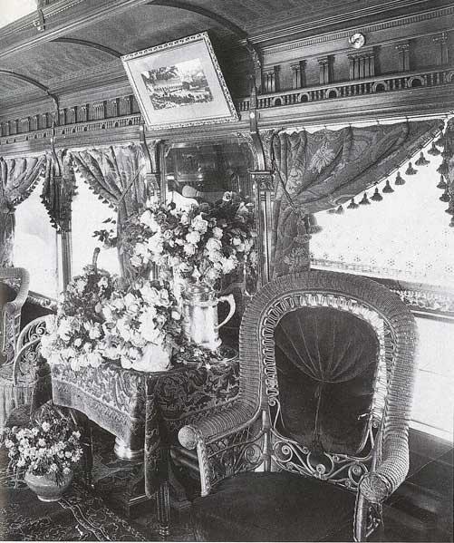 interior of Green palace car