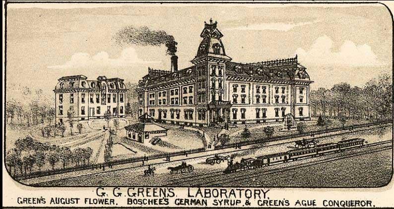 Green laboratory with train car