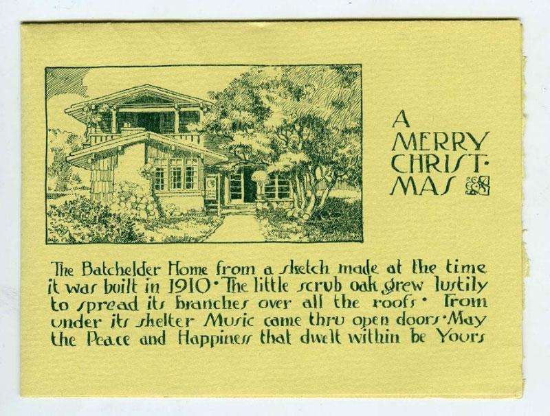 card made by tilemaker Ernest Batchelder