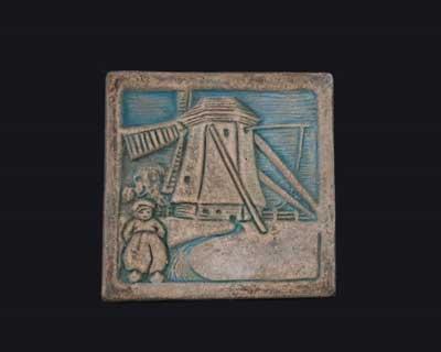 windmill tile by Ernest Batchelder