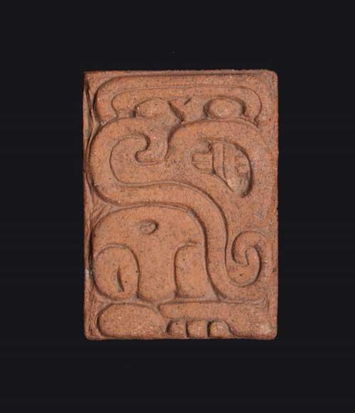 Rectangular Mayan motif tile