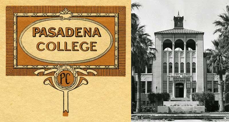 Pasadena College ephemera and photo