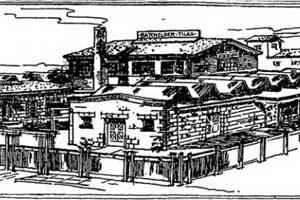 batchelder tile factory sketch