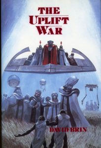 Book cover of The Uplift War by David Brin