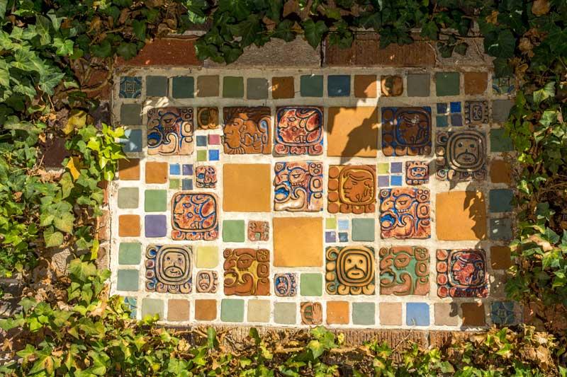 Batchelder Aztec tile plaque