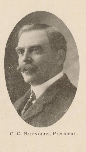Photograph of C.C. Reynolds that was published in a newspaper when he was Tournament of Roses President, 1903 (Tournament of Roses Collection)